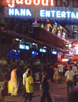 Nana and Soi Cowboy in Bangkok are home to many Go Go bars. These Go Go bars are known to be at the heart of Thai prostitution but are legal under Thai law.